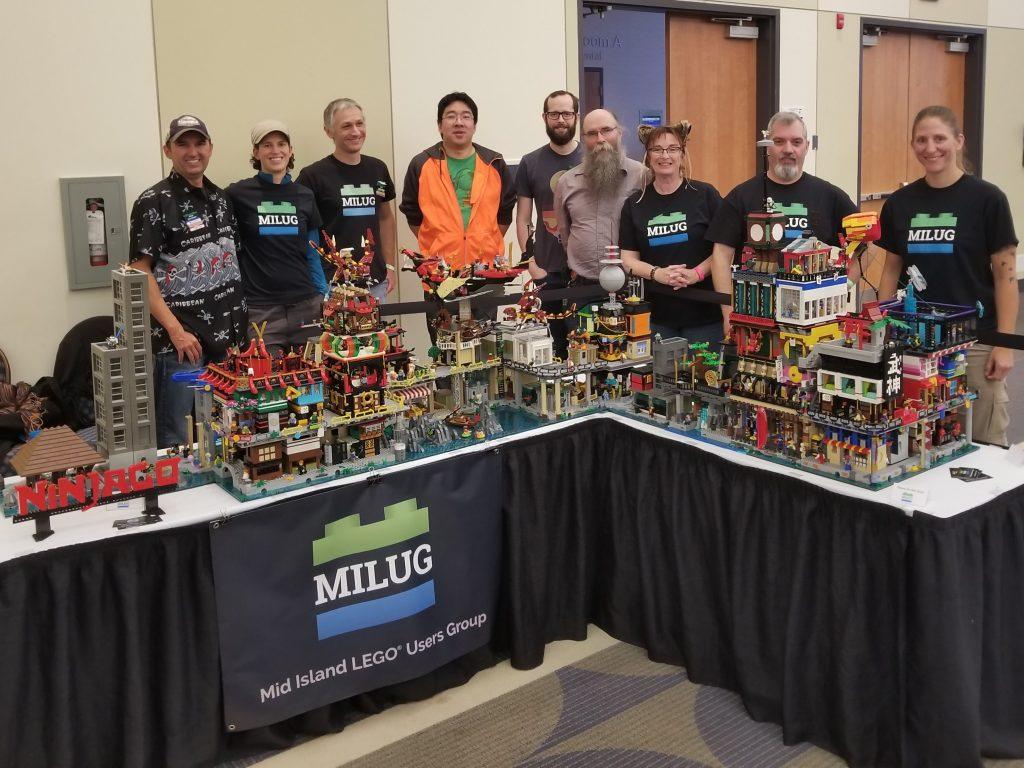 MILUG members and their Ninjago City display