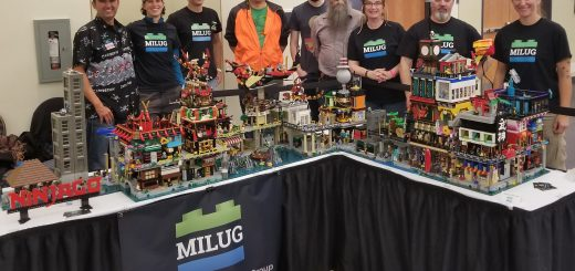 MILUG members and their Ninjago City display